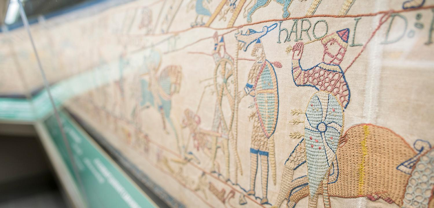 Reading's Bayeux Tapestry showing Harold death