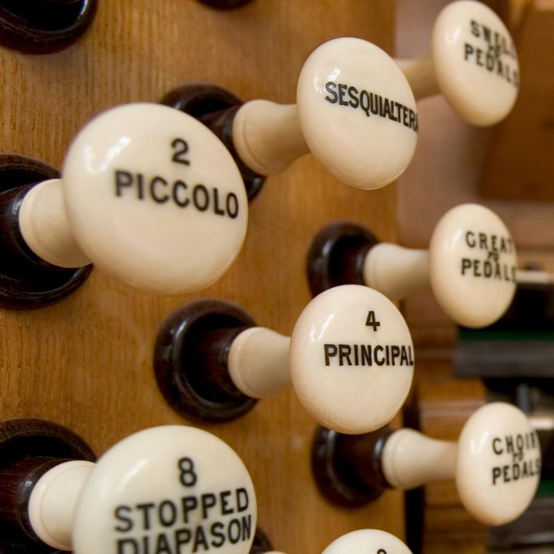 Organ stops in the Concert Hall
