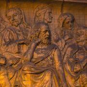 Part of the terracotta frieze on the Town Hall exterior