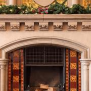Waterhouse Chamber fireplace at Christmas